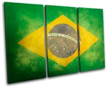 Abstract Brazilian Maps Flags - 13-1128(00B)-TR32-LO